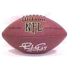 Troy Polamalu Signed Official Size Wilson Composite NFL Football Pittsburgh Steelers Autograph . $134.95. Troy Polamalu Signed Official Size Wilson Replica Composite Leather NFL Football.