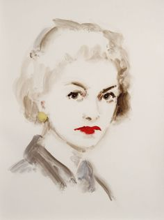 Painted portrait of Coco Chanel // by Annie Kevans 2010