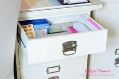 Mini-challenge on A bowl full of lemons: organize a budget & mail drawer