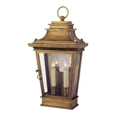 "VISUAL COMFORT | Chart House Club Door Lantern in Antique-Burnished Brass | CHO2500AB | 990.00 retail | 18.5""h x 10""w x 5.5""d"