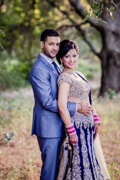Indian bride and groom portrait by james thomas long photography