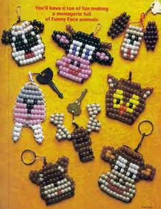 If you go through the pages you will find tazmanian devil Pony Bead Projects, Pony Bead Crafts, Beaded Crafts, Beading Projects, Pony Bead Patterns, Peyote Patterns, Beading Patterns, Stitch Patterns, Pony Bead Animals