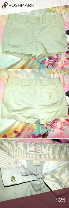 "NWOT J Crew Broken In Khaki Chino Shorts Excellent never worn condition no holes, stains, tears or other flaws.  Measurements Waist 16"" Rise 8.5"" Inseam 3"" J. Crew Shorts"