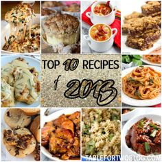 Counting down the top 10 recipes of 2013 on Table for Two blog.