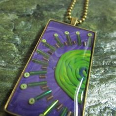 Your place to buy and sell all things handmade Green And Purple, Evolution, Journey, Texture, Pendant, Artist, Handmade, Stuff To Buy, Etsy