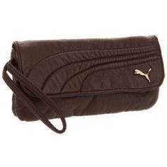 Puma Brown Remix Checkbook Wristlet Wallet www.silverhooks.com