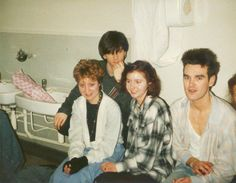 The Smiths. Morrissey and Johnny Marr looking so young, they are practically babies.