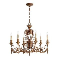 One Allium Way Paladino 6-Light Candle-Style Chandelier Finish: Vintage Copper
