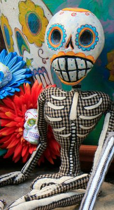 George Boneybags is a OOAK Day of the Dead Art by BlueGooseStudios, $95.00