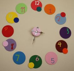 clock from wooden circles