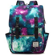 Amazon.com   Kenox Vintage Laptop Backpack College Backpack School Bag Fits  15-inch Laptop   Backpacks 69c24f4492
