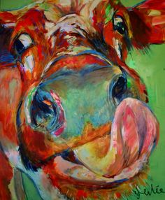 Sacred Really Like - 22 Solutions That Should Change The Tide In Your Daily Life Along With The Lives Of Any Individual Liesbeth Serlie - Koe 9 Cow Paintings On Canvas, Farm Paintings, Canvas Art, Cow Canvas, Painting & Drawing, Watercolor Paintings, Pop Art, Cow Pictures, Cow Pics