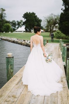 Beaded aline wedding gown: http://www.stylemepretty.com/2017/01/30/kirkland-manor-wedding/ Photography: Alysia and Jayson - http://www.alysiaandjayson.com/