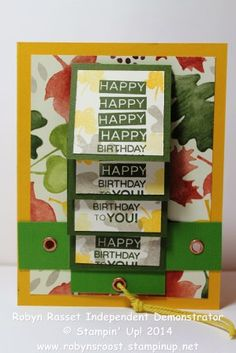 Fall Fest Waterfall Technique Card for the DSC#104 challenge #robynsrooststampinup #handmadecard