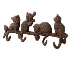 Home Ornaments - Including Large Silver Ornaments Cat Key, Hill Interiors, Silver Ornaments, Key Hooks, Interior Accessories, Home Interior, Cast Iron, Home Goods, Medieval