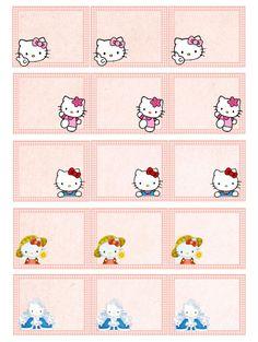 on retrouve Hello Kitty pour ces étiquettes...