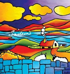 After Ewe Fine Art Print - Saileen Drumm - Visual Artist Landscape Quilts, Landscape Art, Silk Painting, Painting & Drawing, Art Moderne, Naive Art, Art Graphique, Whimsical Art, Acrylic Art