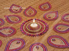 Kundan Arrangeable Kolam Rangoli Lamp Design Buy Now Rangoli Kolam Designs, Kolam Rangoli, Janmashtami Decoration, Acrylic Rangoli, India Trip, Diwali Diy, Puja Room, Indian Crafts, Diy Crafts For Gifts