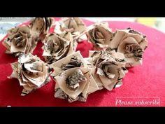 Rose Origami Tutorial (english version) - YouTube Paper Crafts Origami, Fabric Origami, Origami Folding, Iris Folding, Diy Origami, Oragami, Paper Folding, Origami Flowers Tutorial, Flower Tutorial