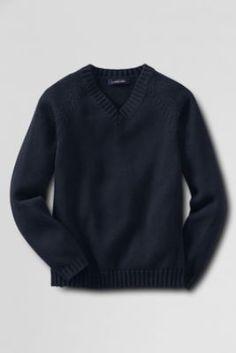 461a2e2c086 School Uniform Kids  Drifter V-neck Sweater from Lands  End Prep School