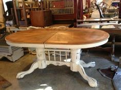Mahogany Double Claw Foot Upcycled Dining Table - farmhouse - dining tables - by Evan James Interiors