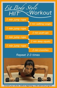 Looks like a good routine to try, even if   the girl in the picture frightens me.  HIIT routine, with jump   ropes!