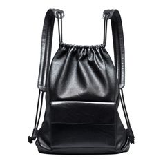 Leather DRAWSTRING BACKPACK SIMPLE