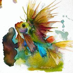 @kursat1974zaman.  .  Balık / Fish  .  .  #balık #fish #underwater #sualtı #denizaltı #suluboya #watercolor #pictures #art #instaart #artework #suluboya #resim #speargundive #freedive #Akdeniz #mediteranian #suluboyaresimler #uçanbalık #KürşatZaman