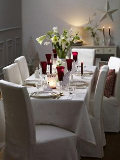 gorgeous christmas tables | Gorgeous holiday table | Christmas