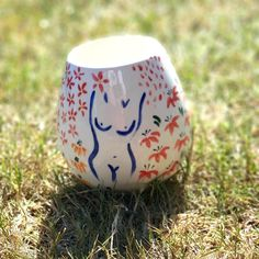 Painted by a customer at the studio. Book your pottery painting session