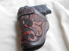 Smith and Wesson Bodyguard .380 hand carved by CJCustomLeather, $54.95