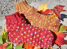 Thrummed slipper socks by Lise Marleau Nesbitt - pattern for sale via ravelry