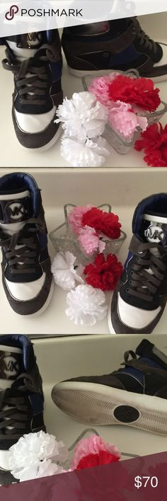 """Michael Kors Trainers Michael Kors Wedge Trainers in excellent condition.  Size:7.5  Heel2.5"""" Michael Kors Shoes Sneakers"""