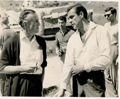 ian fleming & sean connery? yes please, thank you very much. (via awesome people hanging out together)