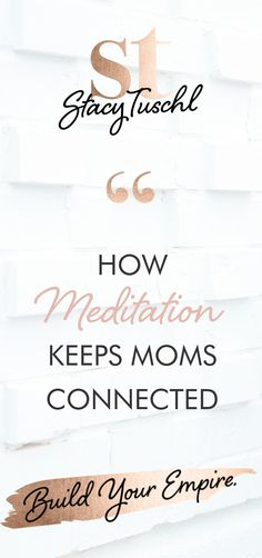 """Judy talks shares about her book, """"Meditations for Mamas Who Deserve to Feel Good"""" and some insightful advice for women, about how to get themselves out there, become successful and connect with their tribe. If you're trying to figure out how to grow your business click the image to listen to the She's Building Her Empire Podcast by Stacy Tuschl."""