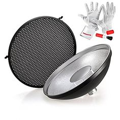 Godox Beauty Dish Reflector with Honeycomb Grid Cover for Godox Witstro Speedlite Flash Thing 1, Honeycomb, Grid, Dish, Cover, Beauty, Plates, Blankets, Plate