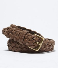 Braided Leather Belt: ACCESSORIES | Free Shipping at L.L.Bean