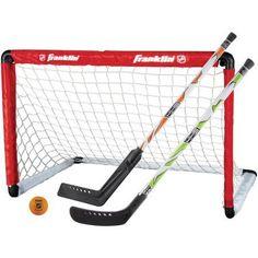 Franklin Sports NHL Goal and 2 Stick Set, White