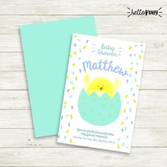Baby Shower invitation  printable and customizable  Welcome