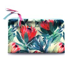 Cosmetic Bag // Flowers // travel bag  make up by ZIZAccessories