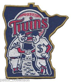 New 2015 Minnesota Twins Shaking Hands State Jersey Sleeve Patch Logo Emblem MLB