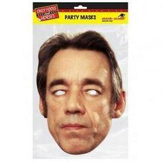 Card Face and Fancy Dress Mask Mark Forster Celebrity Mask