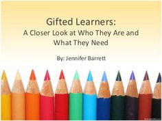 Gifted Education Advocacy Powerpoint Presentation--Lots of useful information!
