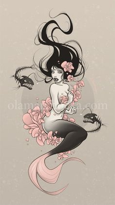 Google Image Result for http://digital-art-gallery.com/oid/63/506x900_11545_Sea_Flower_2d_fantasy_girl_mermaid_pin_up_flowers_picture_image_digital_art.jpg