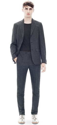 Acne Drifter suit grey check