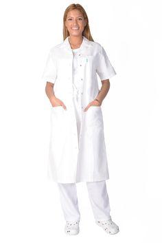 Blouse medicale femme blanche Veronica 100% Coton - Lafont Lafont, Deconstruction, Nursing Students, Duster Coat, Shirt Dress, Jackets, Shirts, Dresses, Collection