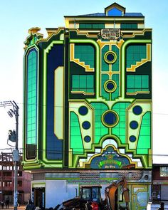 Checking in with the Bolivian architectural movement, Transformer Architecture or New Andean Architecturean, an eccentric and colorful style invented by Freddy Mamani.
