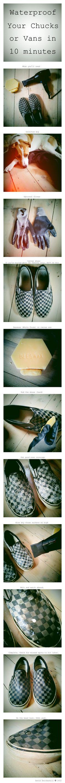 Impermeabuilização de sapatos de pano!