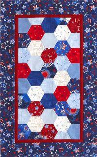 Patriotic Hexagons Table Runner
