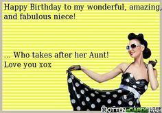 Happy birthday niece x Happy Birthday Quotes, Happy Birthday Me, Birthday Greetings, Birthday Funnies, Niece Birthday Wishes, Birthday Cards, Birthday Messages, Sarcastic Birthday Wishes, Birthday Nephew